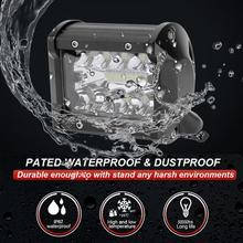 VODOOL 4 inch 60W 3-Row 10800LM LED Work Light Bar Bulbs Offroad Driving Flood Spotlight Lamp For ATV UTV JEEP Motorcycle Truck