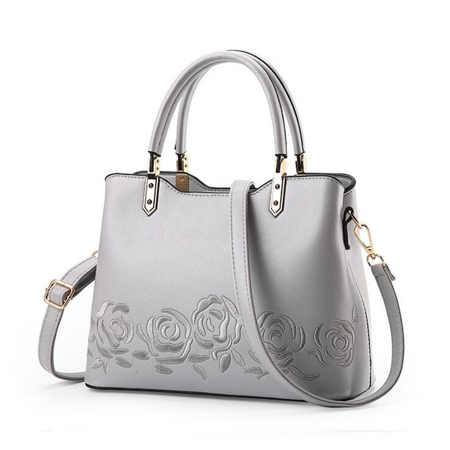 Luxury Women Leather Handbag Women Messenger Bag Female High Quality Shoulder Bag Women s Embroidery Flower