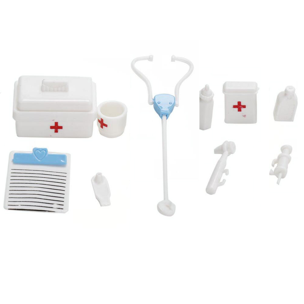 NK One Set  Doll Accessories Toy Medical Kit Doll Pet Toys For Barbie Doll Baby Toys Best Christmas Gifts DZ