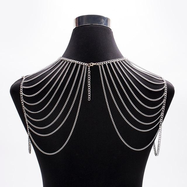 Новый дизайн женская наплечная цепочка золотистого цвета Модная