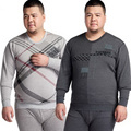 Fat people large Thermal underwear sets Men Plus velvet  Cotton sweater underwear One set  4XL/5XL/6XL/tb111002
