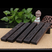 Hot ebony carved incense sandalwood wood lying fragrance oil burner openwork box