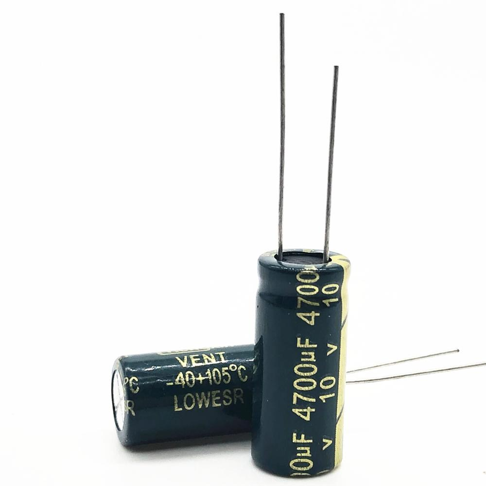 10v 4700UF 10*25 High Frequency Low Impedance Aluminum Electrolytic Capacitor 4700uf 10v 20%