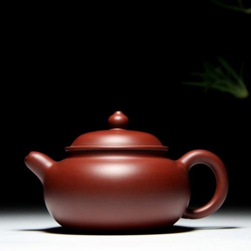 Yixing genuine purple sand master handmade teapot Zhu mud dahongpao mud Bianying Zisha teapot capacity 220cc