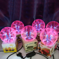Magic LED Lamp Plasma Ion Ball Touch Sensor Christmas New Year Decoration Random Pattern EU Plug