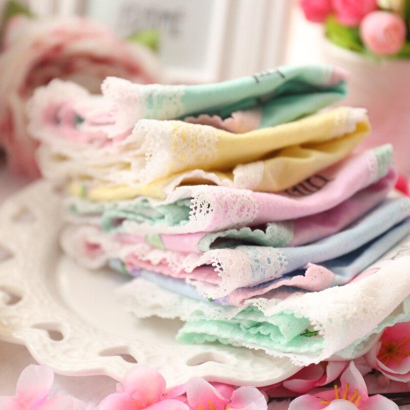 harajuku Japanese cute kawaii lolita soft girl lace fresh strawberry print underwear pink cartoon   panties   cotton blended