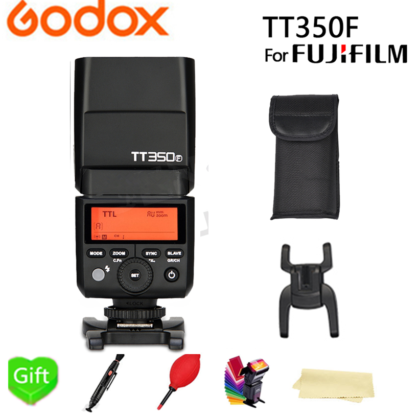 Godox Mini TT350F Camera Flash Speedlite for Fujifilm TTL HSS GN36 High Speed 1/8000S 2.4G Wireless X System + X1T-F for Fuji godox flash tt350f fuji ttl hss 2 4ghz 1 8000 s gn36 mini speedlite flash for fujifilm dslr camera free shipping
