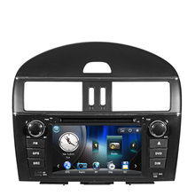 Free Shipping 8 inch Car DVD Player GPS Navigation System For Nissan New Tiida 2011 low equipment with Steering wheel control
