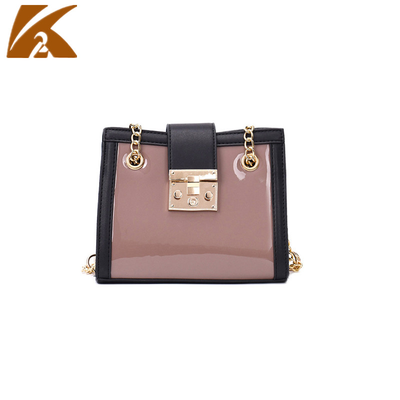 KVKY 2018 Summer Chain Small Hand Bag Woman Patent Leather Handbags Ladies Work Tote Bags Female Business Shoulder Bag Handbag