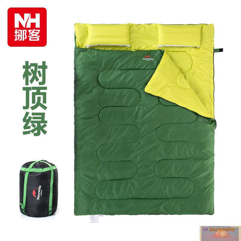 ФОТО Naturehike double sleeping couple spring and summer warm winter indoor outdoor camping adult sleeping bag with pillow