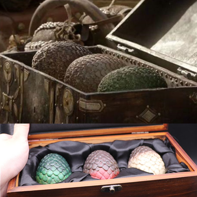 Movie TV Series Game of Thrones Daenerys Targaryen Dragon Egg Periphery Cosplay Prop Accessories Model Collection