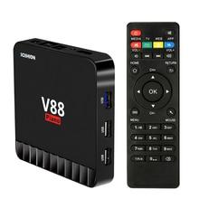 V88 Piano Smart Android 7.1 TV Box RK3328 Quad Core 4K VP9 H.265 HDR10 USB3.0 4GB / 16GB Miracast DLNA WiFi LAN HD Media Player