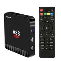 V88 Piano Smart Android 7.1 TV Box RK3328 Quad Core 4 K VP9 H.265 HDR10 USB3.0 4 GB/16 GB Miracast DLNA WiFi LAN HD Media speler