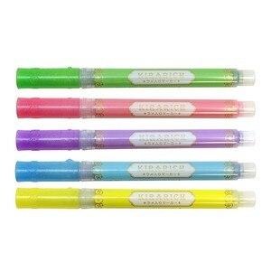Image 5 - 5 pçs/set Japão Zebra bonito pérola cor Fluorescente cor da caneta Marcador marcadores Caneta caneta material escolar diário WKS18