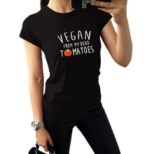 """Vegan From My Head Tomatoes"" women shirt"