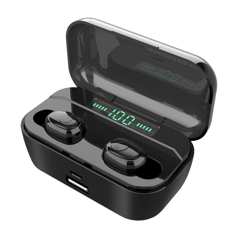 TWS Bluetooth Earphone G6s Wireless earpieces With 3500mAh Power Bank V5.0 LED earbud IPX7 Waterproof with wireless charger