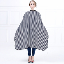High Qaulity Stripe Pattern Hair Salon Barber Cape Styling Haircut Gown Hairdressing Cape Wrap For Hair Coloring New Design