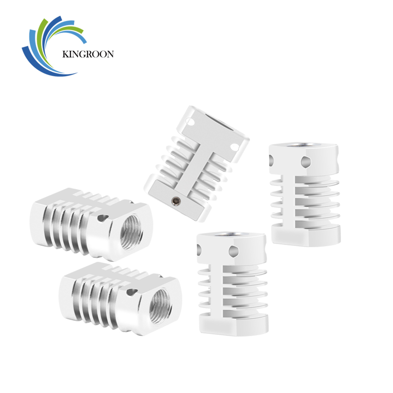 KINGROON 5PCS/Lot CR8/CR10 Heat Sink All-Metal Radiator For MK10 V6 CREALITY 3D Printer Bowden Extruder Hotend 27x22x12mm Parts