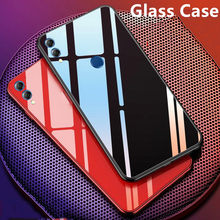 Luxury Glass Case For Honor 8S 8X 8C 8A Pro Play 7S 10i View 20 Silicone frame+Glass Cover For Huawei Y5 Y6 Y7 Y9 2019 P30 Lite(China)