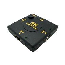 HDMI Switcher Splitter Nero Mini 4K * 2K 3 Port HDMI Switch 3x1 3 di Ingresso 1 Porta di uscita HDMI per HDTV 1080P Video