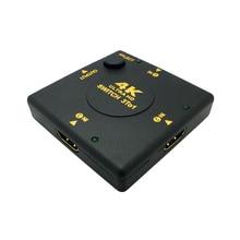 HDMI Switcher Splitter Zwart Mini 4K * 2K 3 Poort HDMI Switch 3x1 3 Input 1 Output Hdmi poort voor HDTV 1080P Video