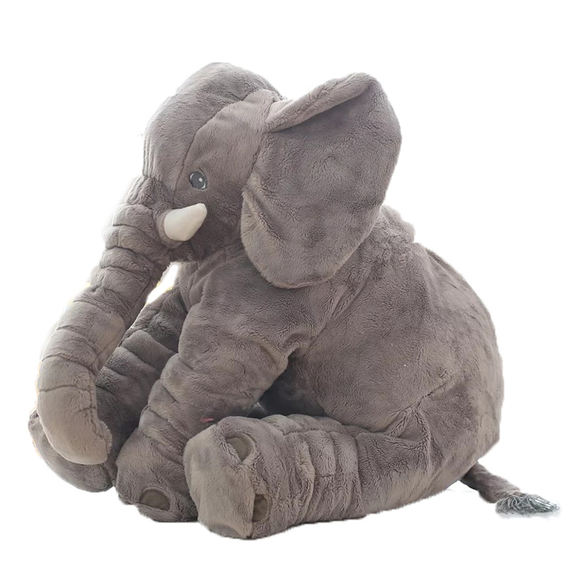 Fashion Baby Stuffed Animal Elephant Toys 60cm Doll Plush Pillow Kids Toy For Children Room Bed For 0-12 Months -- DBYC142 PT49 40cm new fashion animals toys stuffed soft elephant pillow baby sleep toys room bed decoration plush toys for kids