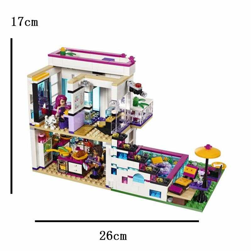 644pcs Friends Girl Series POP Star House Compatibie Legoings Building Blocks Toy Kit DIY Educational Children Birthday Gifts