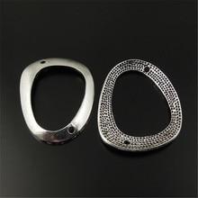 16 шт./упак. старинное серебро нерегулярные кольцо в форме Подвески Подвеска Разъем Ювелирные изделия Поиск 34*25*3 мм топ ювелирные изделия 33019