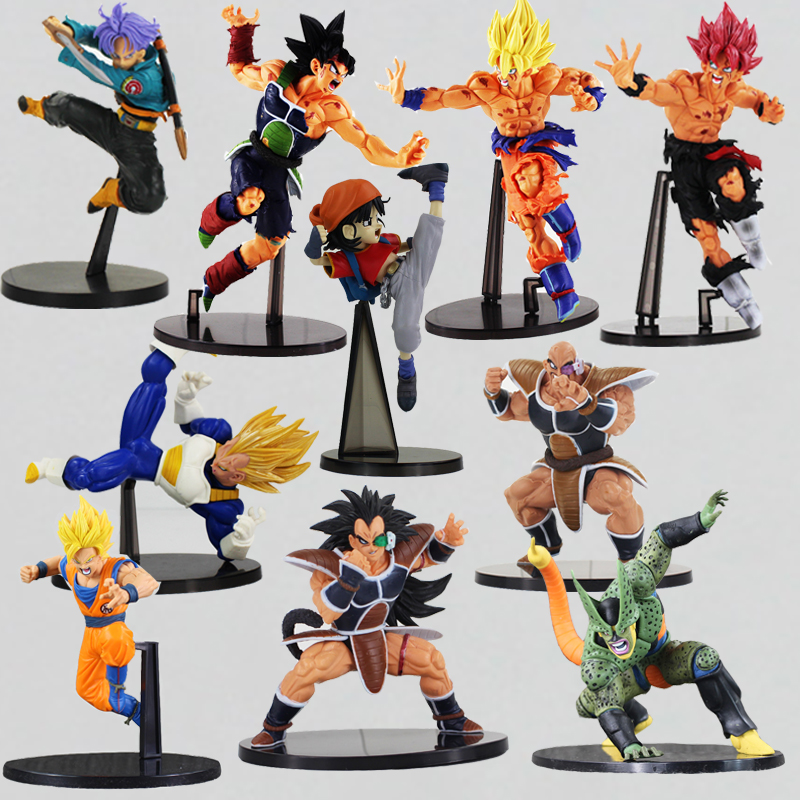 1Pcs Dragon ball Z Super Saiyan Son Goku Gokou PVC action Figure SCultures BIG Resurrection Of F Styling Raditz Nappa Vegeta  new goku 14cm vegeta goku trunks dragon ball z resurrection f super saiyan god comics pvc action figures toy for kids