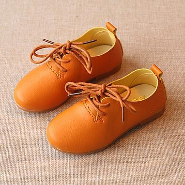 2016 Autumn Winter Children Vintage PU Leather Shoes British Style Gilrs Martin Boots for Kids High Top Boots Casual Sneakers d