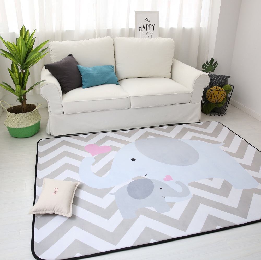 150X200CM Thick Cartoon Carpets For Living Room Soft Rugs For ...
