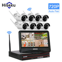 10 Inch Displayer 8CH 720P Wireless CCTV System Wireless NVR IP Camera IR CUT Bullet CCTV