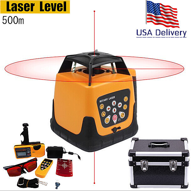 Professional Outdoor Indoor Automatic Self-leveling Rotary Red Beam Laser Level 500m Range with Case Rechargeable rotary encoderec40b6 l5ar 500