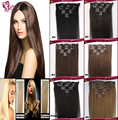 Best Seller Clip In Human Hair Extensions Hair Clips Tic Tac Hair Brazilian Virgin Hair 100g/7Pcs 7color Optional Factory Outlet