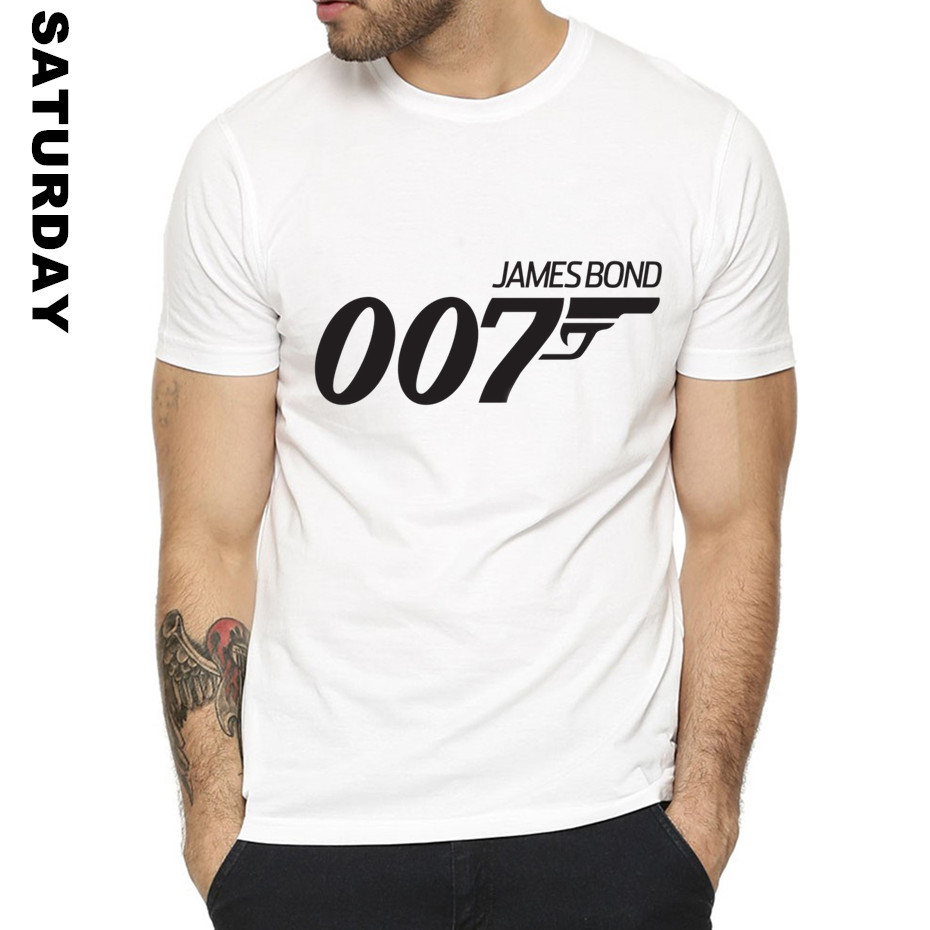 Movie Film James Bond 007 Design Funny T Shirt For Men And Women,Unisex Breathable Graphic Premium T-Shirt Men's Streewear