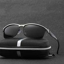 Hombres gafas de Sol Polarizadas Cuadrados Marco de Aleación de Metal de Alta Calidad Polarizada UV400 Gafas Para Hombre Gafas de Sol Gafas Masculino