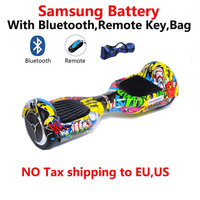Built In Samsung Battery Bluetooth Remote Bag Smart Self Balancing Electric Scooter Two Wheels Electric Hoverboard