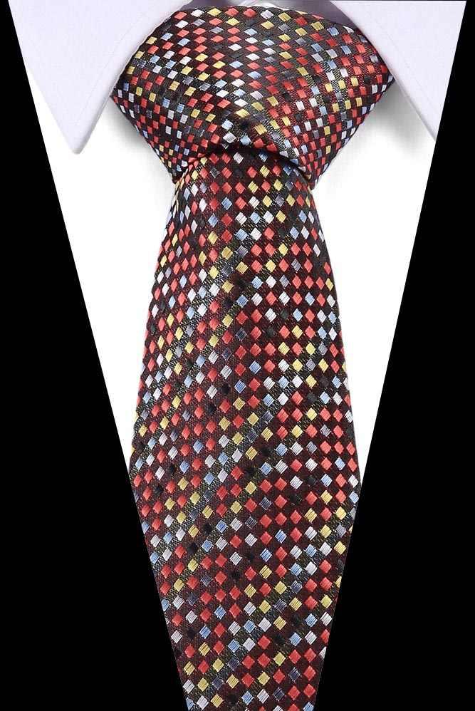 جديد الأرجواني مخطط 7.5 سنتيمتر التعادل الأحمر الذهب رمادي الأخضر العلاقات للرجال الجاكار المنسوجة رابطة عنق الحرير دعوى ل مكتب رسمي مجموعة ضئيلة التعادل