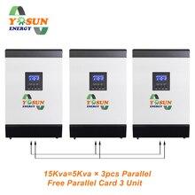 15Kva Solar Inverter Pure Sine Wave 12000W 230Vac Off Grid MPPT Charger 48Vdc Battery 180A Solar Inverter Free Parallel Card