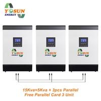 Mejor Inversor Solar MPPT 15Kva 60A 12000 W inversor de onda sinusoidal pura 48 Vcc 220 VCA