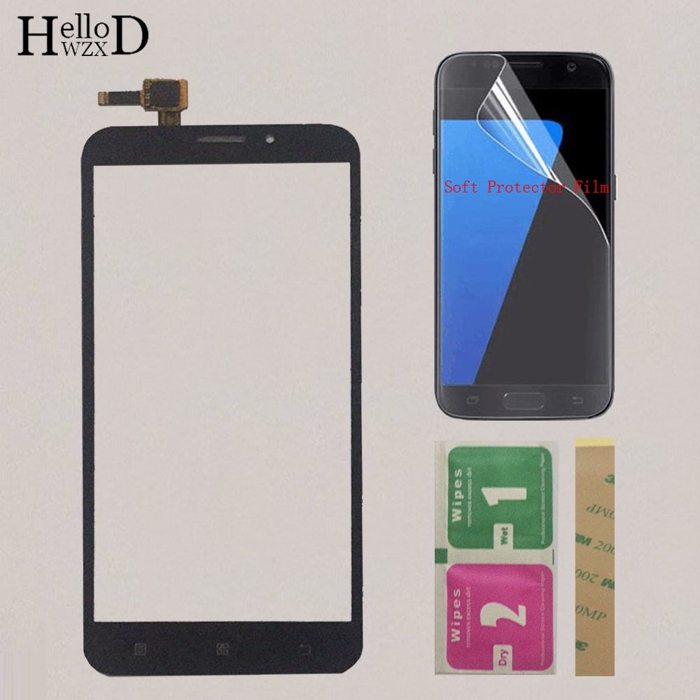 Phone Mobile Touch Screen Sensor For Lenovo A916 A 916 Touch Screen Front Glass Digitizer Panel Replacement Parts Protector Film