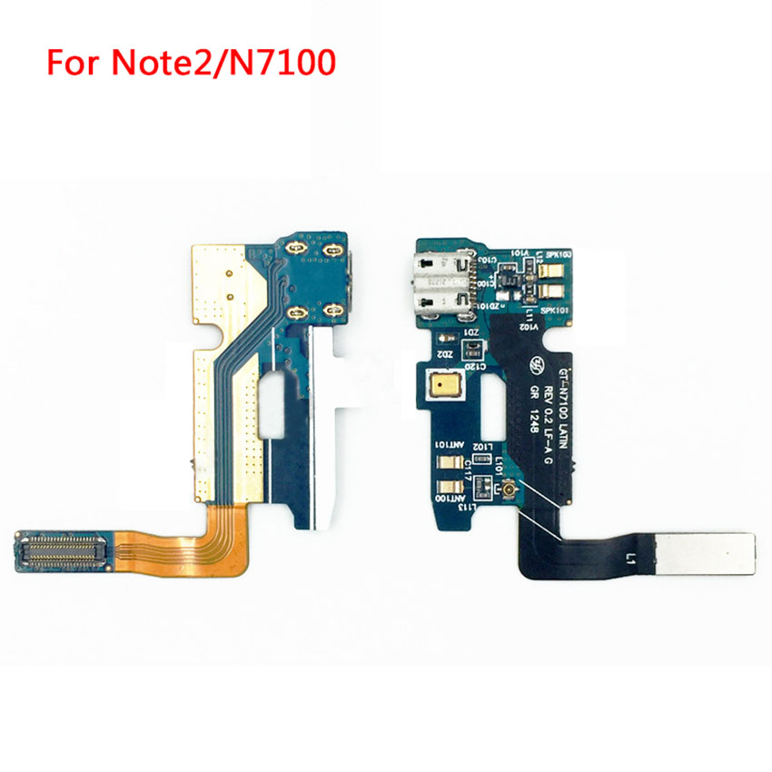 High Quality USB Connector Charging Port Flex Cable For Samsung Galaxy Note 2 N7100 Micro USB Port Flex Parts Replacement