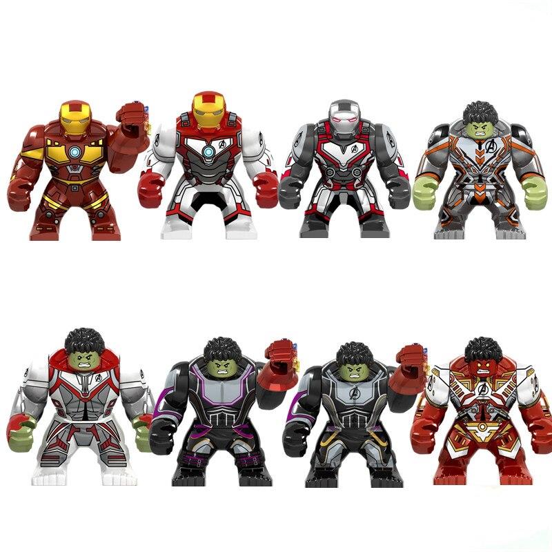 64 개/몫 슈퍼 영웅 avengers 팬더 로봇 미니 그림 헐크 버스터 세트 빌딩 블록 아이 장난감 교육 모델-에서블록부터 완구 & 취미 의  그룹 3