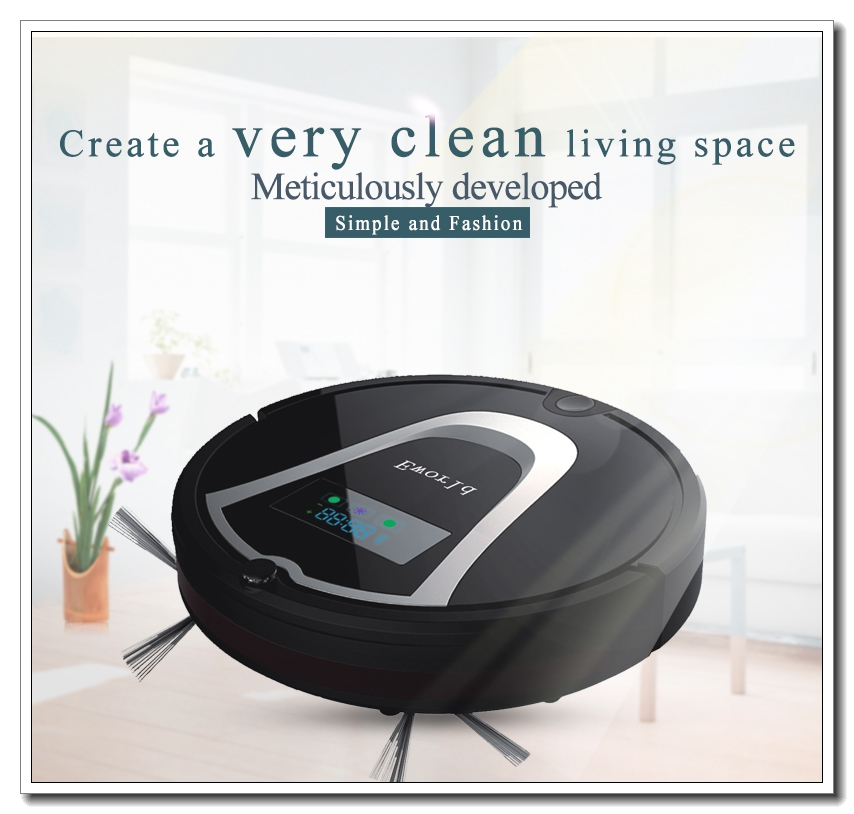 Eworld  ABS Material Auto Vacuum Cleaners,Auto Recharging Vacuum Cleaners ,Floor Cleaner with Mop Function and 0.6L Dust Tank free to europe eworld 2016 auto vacuum cleaners with robot vacuum cleaner mop with noise level less 50 db