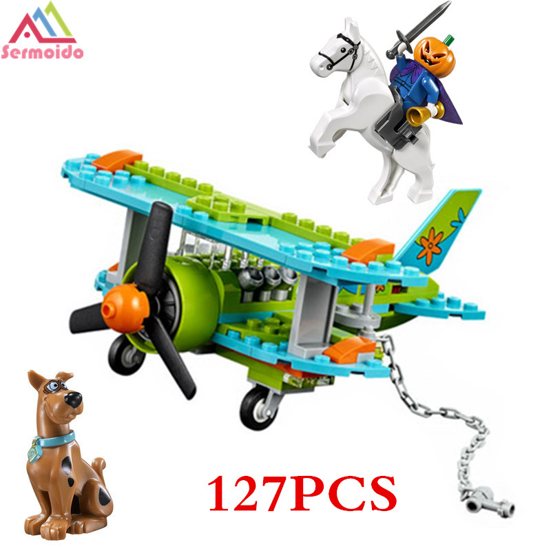 sermoido Scooby Doo Figures Mystery Plane Adventures Machine Building Blocks Bricks Toy Compatible With 75901 Toys B62 sermoido 305 pcs building blocks scooby doo the mystery machine 75902 model compatible figure toy for children b46