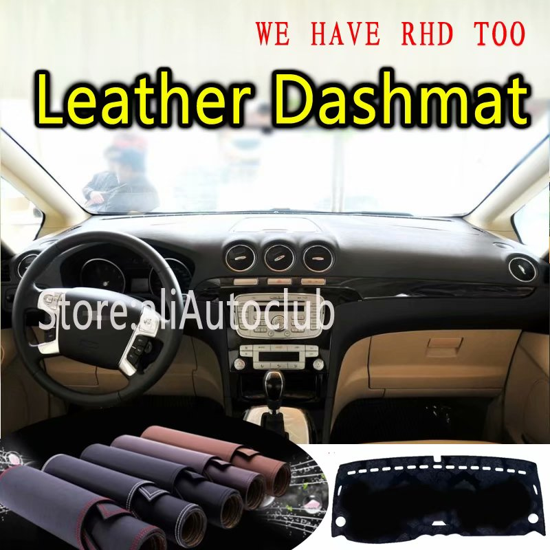For Ford S max 2006 2007 2009 2010 2011 2012 2013 2014 2015 Leather Dashmat Dashboard Cover Dash Mat Carpet Custom Car Styling|  - title=