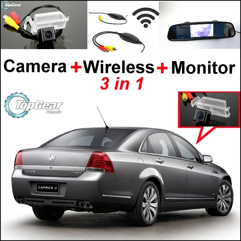 3in1 Special WiFi Camera + Wireless Receiver + Mirror Parking System For Chevrolet / Holden Caprice / WM Statesman цена
