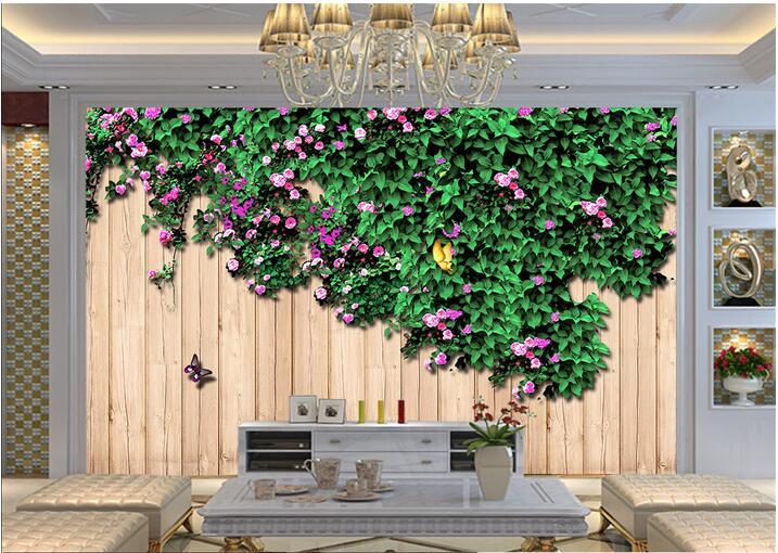 Muur Plank Voor Schilderijen.Custom Foto 3d Behang Non Woven Muurschildering Muursticker De Rozen