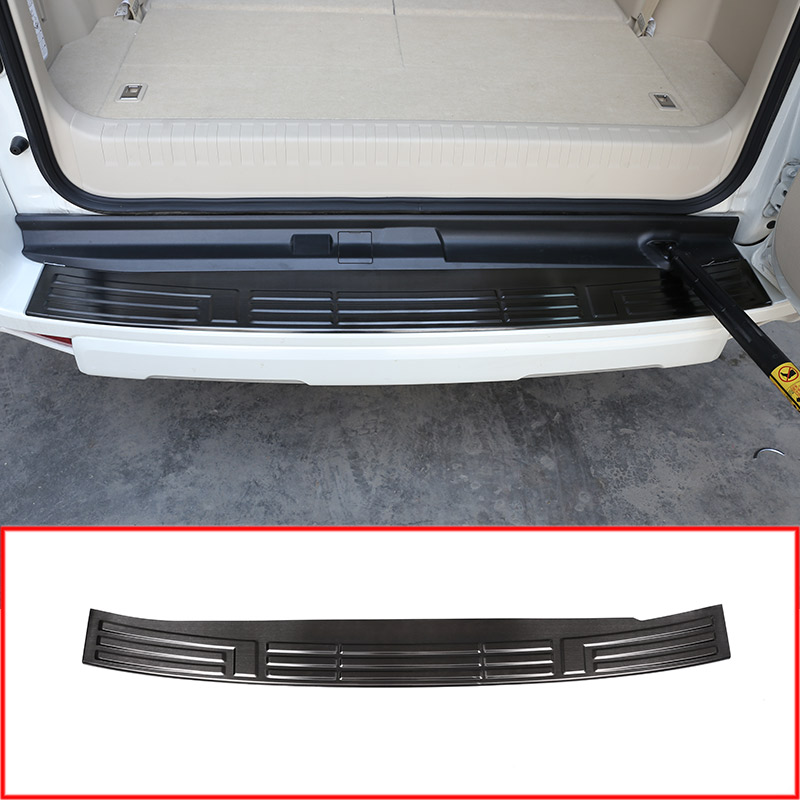 Steel Rear Bumper Protector Tail Trunk Guard Sill Plate Scuff Cover For Toyota Land Cruiser Prado