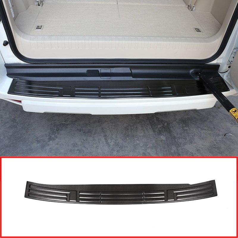 Steel Rear Bumper Protector Tail Trunk Guard Sill Plate Scuff Cover For Toyota Land Cruiser Prado